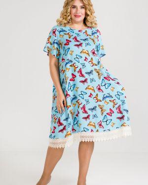 Летнее платье мини из штапеля Luxury