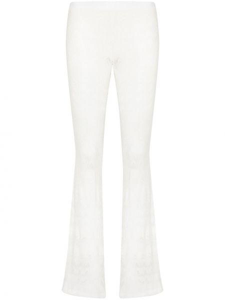 Расклешенные белые брюки из вискозы Missoni