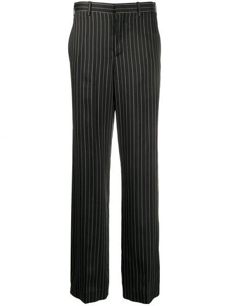 Spodnie z wysokim stanem czarne z kieszeniami Neil Barrett