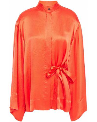 Облегченная зеленая шелковая блузка Mcq Alexander Mcqueen