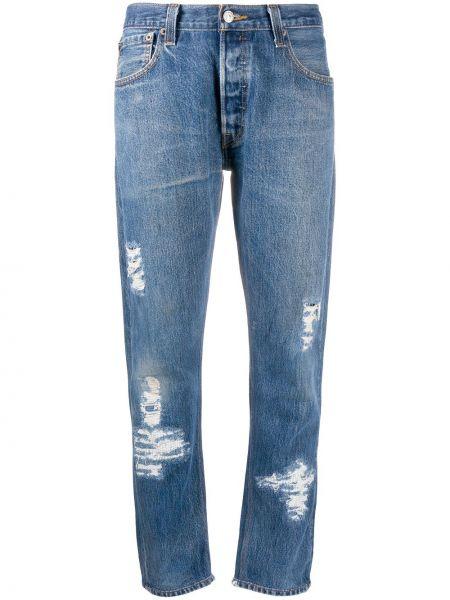 Bawełna klasyczny niebieski klasyczne spodnie z kieszeniami Re/done