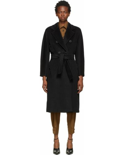 Черное длинное пальто Max Mara