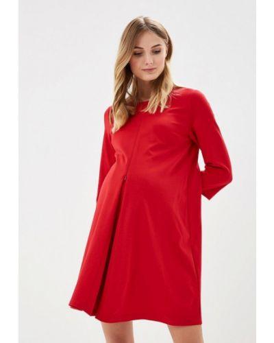Красное платье осеннее Mammysize