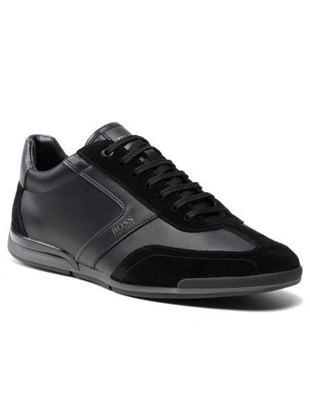 Buty sportowe skorzane - czarne Boss