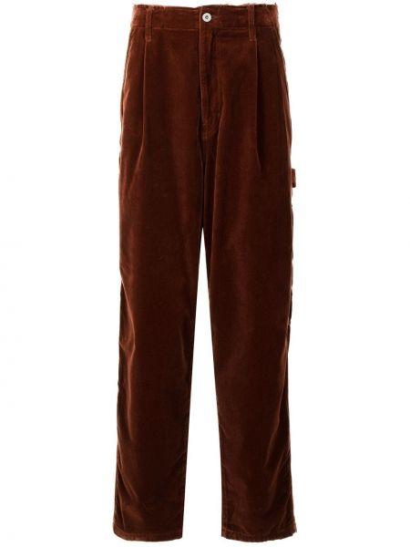 Brązowe spodnie z paskiem Doublet