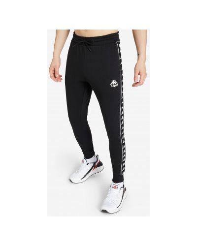 Черные трикотажные брюки на резинке Kappa