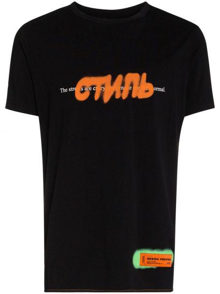 Koszula z nadrukiem z logo Heron Preston