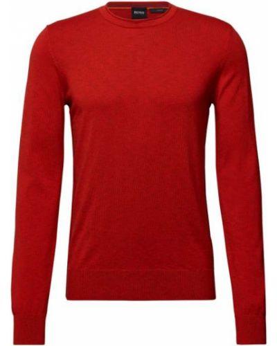 Sweter dzianinowy - pomarańczowy Boss Casualwear