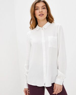 Блузка с длинным рукавом белая осенняя Piazza Italia