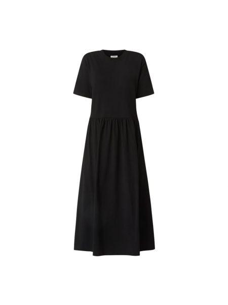 Sukienka midi bawełniana - czarna Marc O'polo Denim