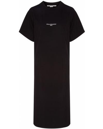 Платье миди футболка с надписью Stella Mccartney