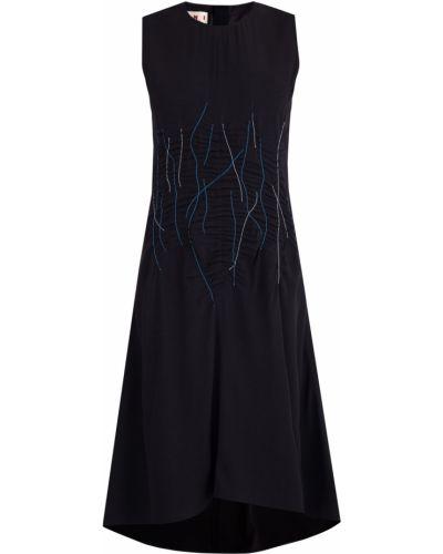 Платье из крепа на молнии Marni