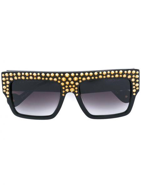 Złote czarne okulary Anna Karin Karlsson
