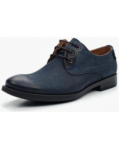 Туфли из нубука синий Conhpol