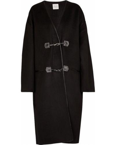 Черное шерстяное пальто Totãªme