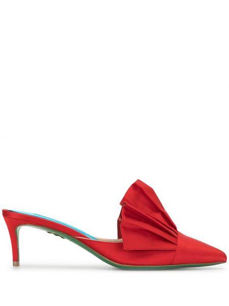 Красные кожаные мюли на каблуке Sara Battaglia