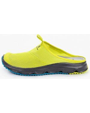 Желтые текстильные сандалии Salomon