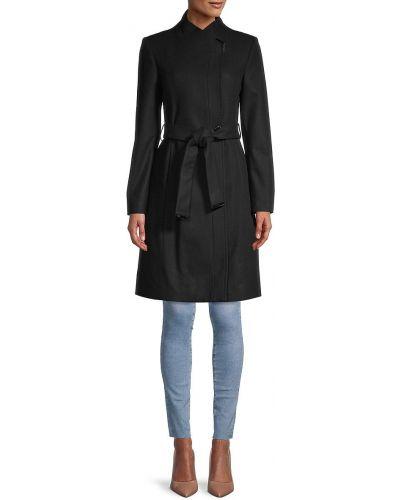 Черное шерстяное пальто Ted Baker London