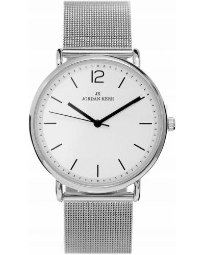 Klasyczny czarny zegarek srebrny Jordan Kerr