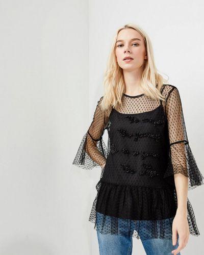 Черная кружевная блузка Liu Jo