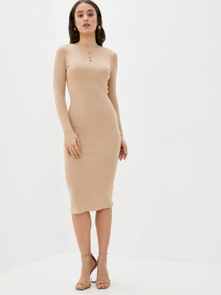 Платье прямое бежевое Incity