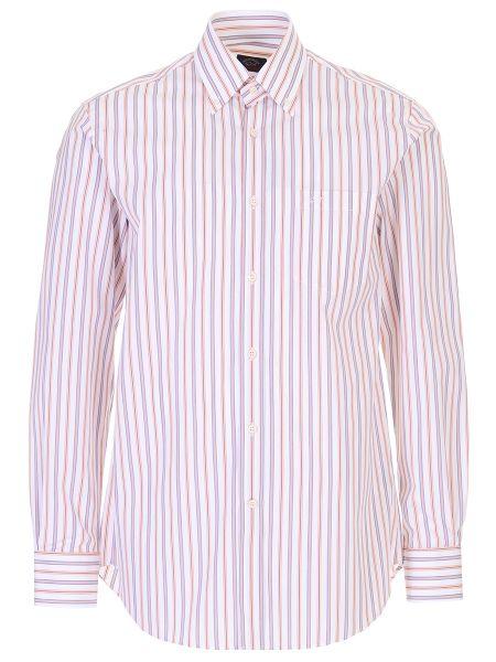 Белая классическая рубашка с воротником на пуговицах Paul & Shark