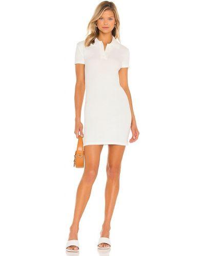 Трикотажное платье мини - белое Pam & Gela