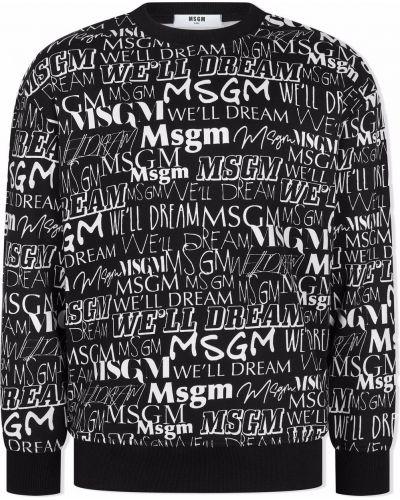 Czarna bluza bawełniana Msgm Kids