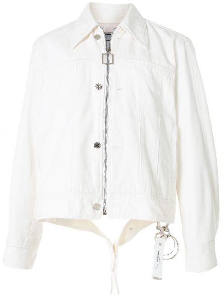 Классическая белая облегченная куртка на пуговицах Wooyoungmi