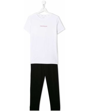 Spodni piżama z koszulą krótkie rękawy Calvin Klein Kids