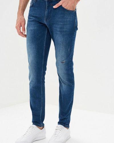 Синие зимние зауженные джинсы Colin's