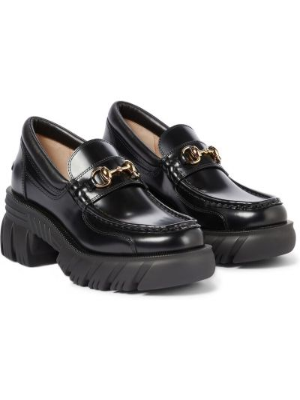 Черные резиновые туфли Gucci
