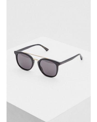 Солнцезащитные очки круглые черный Gucci