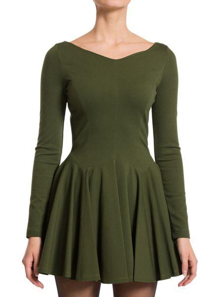 Платье из вискозы - зеленое Plein Sud