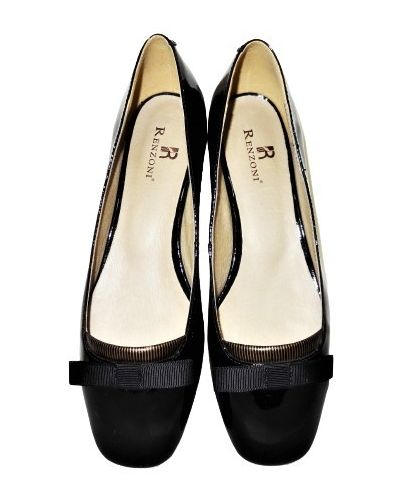 Кожаные туфли - черные Renzoni