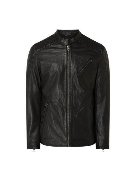 Czarna kurtka jeansowa skórzana Pepe Jeans