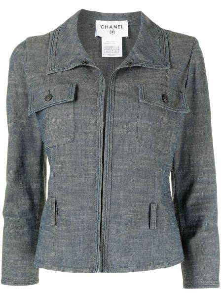Синяя куртка на пуговицах Chanel Pre-owned