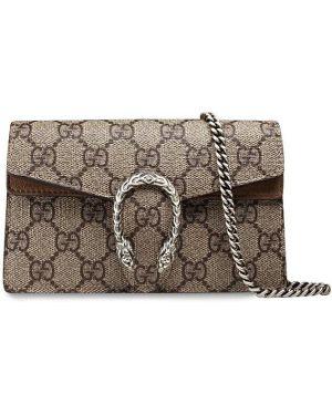 Torebka na łańcuszku - beżowa Gucci