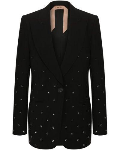 Шерстяной пиджак с подкладкой с лацканами N21