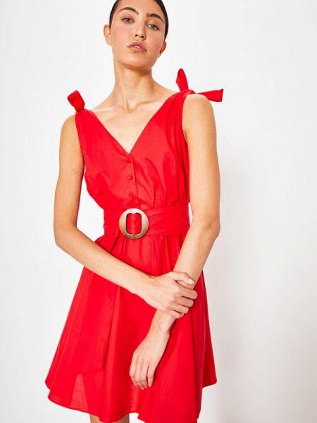 Платье прямое красный Lime