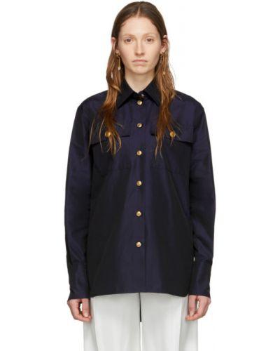Bawełna bawełna z rękawami koszula z kołnierzem Givenchy