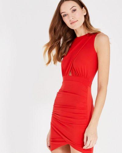 Вечернее платье красный осеннее Edge Street