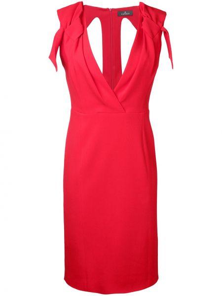 Sukienka mini z wiskozy bez rękawów z dekoltem w serek Capucci
