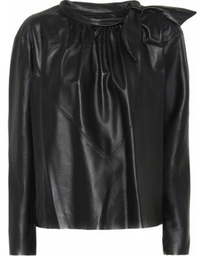 Классическая рубашка кожаная Isabel Marant