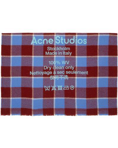 Czerwony szalik wełniany Acne Studios