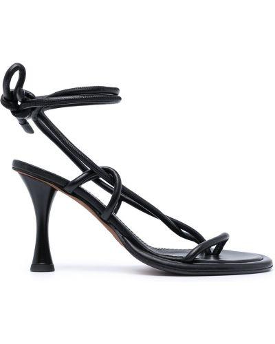 Sandały skórzane na obcasie - czarne Proenza Schouler