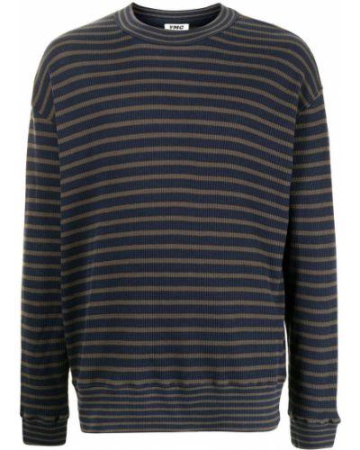 Niebieski sweter z printem Ymc
