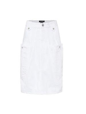 Хлопковая синяя джинсовая юбка с поясом на пуговицах Isabel Marant