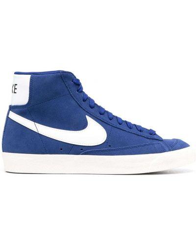 Niebieski koronkowa top z haftem Nike