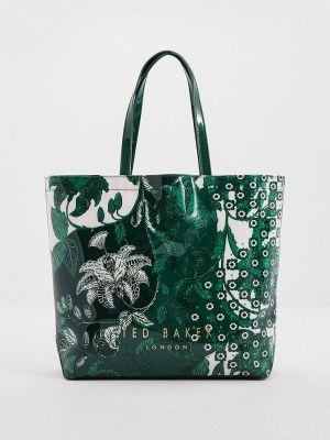 Сумка шоппер - зеленая Ted Baker London